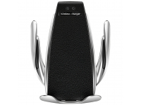 Incarcator Auto Wireless OEM QI?-AT01?, Quick Charge, 10W, Senzor IR, Negru Argintiu
