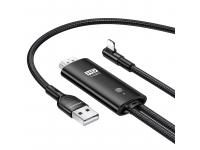 Cablu Date si Incarcare HDMI la Lightning Usams U53 US-SJ442, 2 m, Negru SJ442HD01