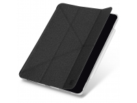 Husa Tableta TPU UNIQ Yorker Kanvas pentru Apple iPad Air (2020), Antimicrobial, OBSIDIAN KNIT, Neagra