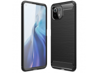 Husa TPU Tech-Protect Carbon pentru Xiaomi Mi 11 Lite / Xiaomi Mi 11 Lite 5G, Neagra