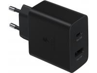 Incarcator Retea USB Samsung, Fast Charge, 35W, 1 X USB - 1 X USB Tip-C, Negru EP-TA220NBEGEU