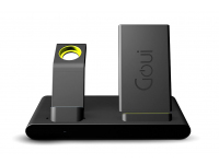 Incarcator Retea Wireless Goui Pentru Apple IPhone / Watch / Airpods Goui Dock, Fast Charge 10W, Negru, Resigilat G-WIRESTAND