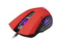 Mouse Wired USB WHITE SHARK GM-5006 HANNIBAL-2, 3200 dpi, Rosu PMS00412