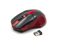 Mouse Wireless SBOX WM-9017BR, Negru-Rosu PMS00348