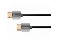 Cablu Audio si Video HDMI la HDMI Kruger&Matz Basic, 1.8 m, Negru Gri
