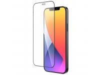 Folie Protectie Ecran HOCO pentru Apple iPhone 12 Pro Max, Sticla securizata, Full Face, Edge Glue, Shatterproof HD A19, Neagra
