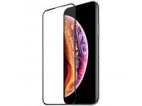 Folie Protectie Ecran HOCO pentru Apple iPhone X / Apple iPhone XS / Apple iPhone 11 Pro, Sticla securizata, Full Face, Edge Glue, 3D G2, Neagra