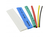 Tub Termocontractabil REBEL NAR0832, Latime 1.5 - 13mm, Lungime 10cm, Set 100 buc, Diverse culori