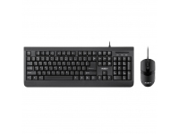 Kit Tastatura Mouse Wireless REBEL WDS100, Neagra