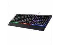 Tastatura USB Kruger&Matz Gaming Warrior GK-70, Cu fir, Mod iluminare, Neagra