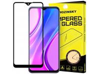 Folie Protectie Ecran WZK pentru Xiaomi Redmi 9, Sticla securizata, Full Face, Full Glue, 9H, Neagra