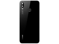 Capac Baterie - Geam Camera Spate - Senzor Amprenta Huawei P20 Lite, Negru 02351VPT