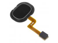Senzor Amprenta Samsung Galaxy A21s, Cu banda, Negru, Swap