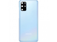 Capac Baterie - Geam Camera Spate Samsung Galaxy S20 Plus G985, Bleu, Swap