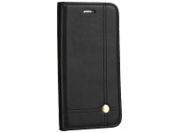 Husa Piele OEM Prestige pentru Samsung Galaxy A12 A125, Neagra