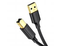 Cablu Imprimanta UGREEN US135, USB 2.0 tip A la USB 2.0 tip B, 2 m, Negru
