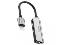 Adaptor Audio Lightning - 2 x Lightning  / 3.5 mm Baseus L52, Gri CALL52-S1