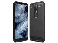 Husa TPU Forcell Carbon pentru Nokia 4.2, Neagra