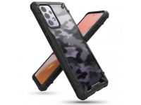 Husa Plastic - TPU Ringke Fusion X Design Camo pentru Samsung Galaxy A72 4G / Samsung Galaxy A72 5G A725, Neagra XDSG0048