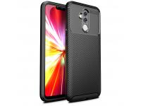 Husa TPU OEM Carbon Fiber Antisoc pentru Huawei Mate 20 Lite, Neagra