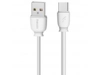 Cablu Date si Incarcare USB la USB Type-C Remax Suji RC-134a, 1 m, 2.1A, Alb