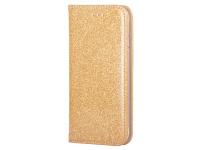 Husa Piele Forcell SHINING Book pentru Samsung Galaxy A02s A025F, Aurie