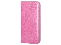 Husa Piele Forcell SHINING Book pentru Samsung Galaxy A02s A025F, Roz Aurie