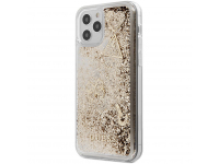 Husa TPU Guess Liquid Glitter Charms pentru Apple iPhone 12 Pro Max, Aurie GUHCP12LGLHFLGO