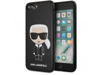 Husa TPU Karl Lagerfeld Ikonik pentru Apple iPhone 7 Plus / Apple iPhone 8 Plus, Neagra KLHCI8LIKPUBK