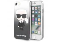 Husa Plastic - TPU Karl Lagerfeld Degrade pentru Apple iPhone 7 / Apple iPhone 8 / Apple iPhone SE (2020), Neagra KLHCI8TRDFKBK