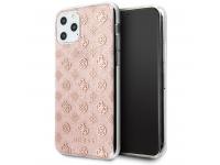 Husa Plastic - TPU Guess 4G Peony Glitter pentru Apple iPhone 11 Pro, Roz GUHCN58TPERG