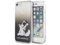 Husa Plastic - TPU Karl Lagerfeld Choupette Fun pentru Apple iPhone 8 / Apple iPhone SE (2020), Neagra KLHCI8CFNRCBK
