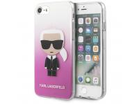 Husa Plastic Karl Lagerfeld pentru Apple iPhone 7 / Apple iPhone 8 / Apple iPhone SE (2020), Fun Sunglasses, Roz KLHCI8TRDFKPI