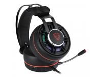 Casti Gaming Motospeed G919, OverEar, RGB, USB, Negre