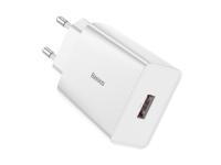 Incarcator Retea USB Baseus Speed Mini, Quick Charge, 18W, 1 X USB, Alb CCFS-W02