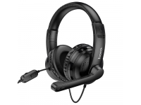 Casti Gaming HOCO W103 Magic tour, Cu microfon, 3.5 mm, Negre