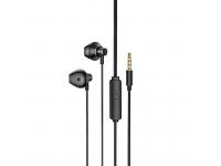 Handsfree Casti EarBuds HOCO M75 Belle, Cu microfon, 3.5 mm, Negru