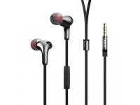 Handsfree Casti In-Ear HOCO M30 Glaring, Cu microfon, 3.5 mm, Gri