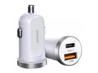 Incarcator Auto USB Joyroom C-A08, Quick Charge, 30 W, 1 X USB - 1 X USB Tip-C, Alb