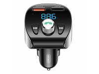 Modulator FM Bluetooth Joyroom JR-CL02, Mp3 Player, Buton Apel, 2xUSB, Quick Charge, Negru