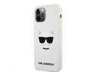 Husa TPU Karl Lagerfeld Choupette Head pentru Apple iPhone 12 / Apple iPhone 12 Pro, Alba KLHCP12MSLCHWH