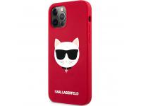 Husa TPU Karl Lagerfeld Choupette Head pentru Apple iPhone 12 Pro Max, Rosie KLHCP12LSLCHRE