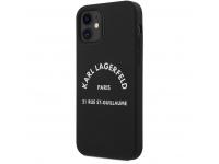 Husa TPU Karl Lagerfeld Rue St Guillaume pentru Apple iPhone 12 mini, Neagra KLHCP12SSLSGRBK