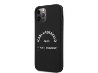 Husa TPU Karl Lagerfeld Rue St Guillaume pentru Apple iPhone 12 Pro Max, Neagra KLHCP12LSLSGRBK