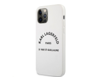 Husa TPU Karl Lagerfeld Rue St Guillaume pentru Apple iPhone 12 Pro Max, Alba KLHCP12LSLSGWH