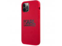 Husa TPU Karl Lagerfeld pentru Apple iPhone 12 Pro Max, Stack Black Logo, Rosie KLHCP12LSLKLRE