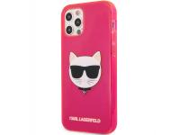 Husa TPU Karl Lagerfeld Choupette Head pentru Apple iPhone 12 Pro Max, Ciclam KLHCP12LCHTRP