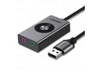 Placa de sunet USB UGREEN 7.1, 1m, Neagra