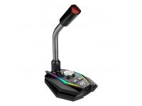 Microfon Bluetooth HAVIT GK56, pentru Gaming, RGB, Negru