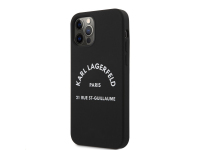 Husa TPU Karl Lagerfeld Rue St Guillaume pentru Apple iPhone 12 / Apple iPhone 12 Pro, Neagra KLHCP12MSLSGRBK